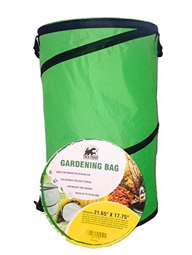 Garden Bag 2 Pack - 32 Gallon Lightweight Reusable Popup Yard & Garden Leaf, Laundry, Tool, Storage or Trash Bag | Collapsible For Easy Storage