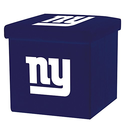 Nfl Cube (Franklin Sports NFL New York Giants Storage Ottoman with Detachable Lid 14 x 14 x 14 - Inch)