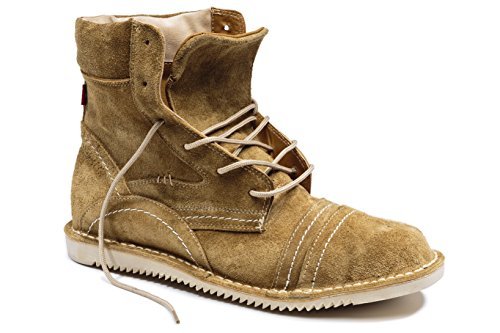 Oliberte Men's Ngola Tan Suede 42/9 Combat Boot by Oliberte