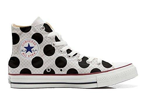 Pois Converse All Star Schuhe a Schuhe Customized Hi Handwerk personalisierte HgAqRzH