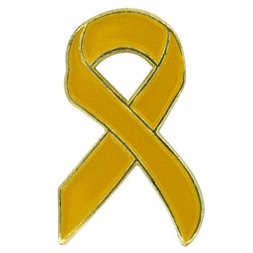 Patriotic Ribbon Pin (US Flag Store Yellow Ribbon Flag Lapel Pin)