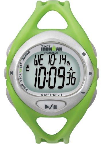 Timex Unisex T5K058 Green Ironman Sleek iControl Resin Strap Watch by Timex