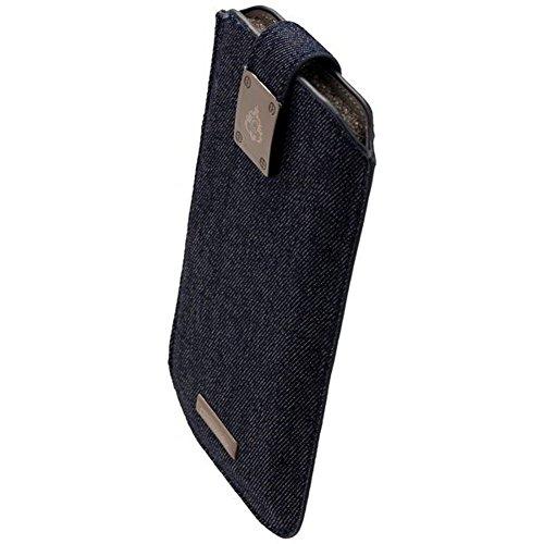 COMMANDER Tasche MILANO XXL5.7 Jeans für Samsung Galaxy S7 Edge / Apple iPhone 7 Plus + Reinigungstuch iMoBi