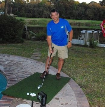 Real Feel Golf Mats The Original Country Club Elite 3'x5' Heavy Duty Commercial Practice Mat. The First Golf Mat That Takes A Real Tee and Lets You Swing Down Through,Simulator,Indoor/Outdoor
