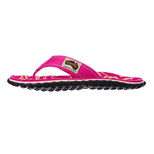 Gumbies Islander Zehentrenner Unisex, Farbe: Pink Hibiscus, Größe: 43