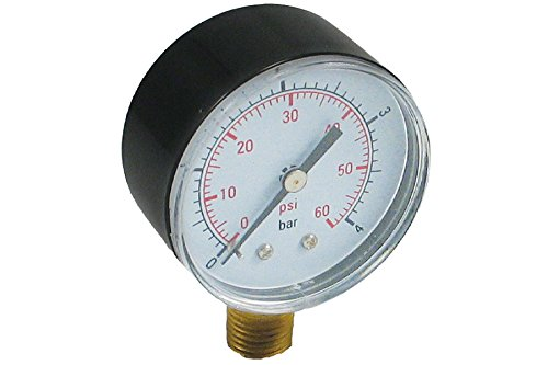 Spa Filter Pressure Gauge (Pressure Gauge 0-60 PSI for Pentair and Hayward pool filters)