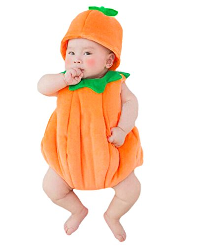 Photos Costumes Halloween (JISEN Newborn Baby Photography Props Handmade Pumpkin Crochet Knitted Unisex Baby Cap Outfit Photo)