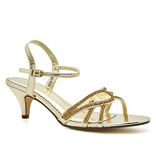Kitten Sandals WoMen London Lana Heels Gold Footwear HxOw4fqp
