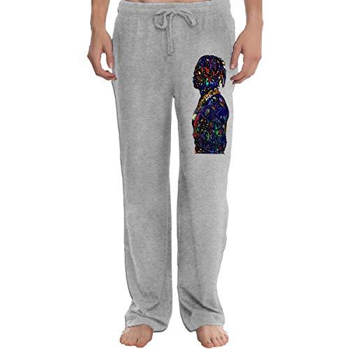 BAIXRU Abstract Lil Boat Fitness Men Yoga Pants Gray 3XL