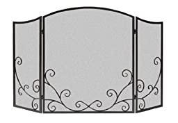 Panacea Products 15981 3-Panel Flourishing Scrolls Screen for Fireplace