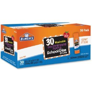 Elmer Products E605 Disappearing Purple All Purpose Glue Sticks44; Purple & Clear