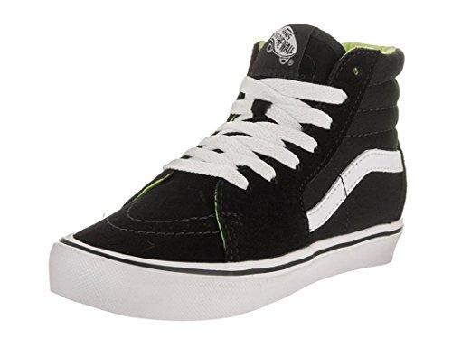 Vans Kids Sk8-Hi Lite (Basic) Black/White Skate Shoe 1 Kids (Vans For Girls On Sale)