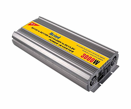 Modified sine wave Power inverter 3000W peak 6000 Watt DC 12V to AC 110V Volt converter with battery charge function converters 60HZ (DC12V to AC110V)