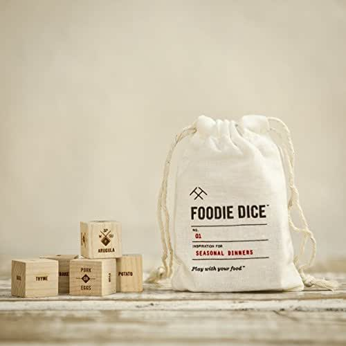 Foodie Dice® No. 1 Seasonal Dinners (pouch)//Gift for women, men, her, foodie, hostess, couples or cooking gift