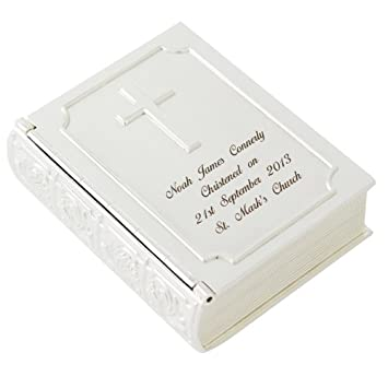 Amazonde Personalisierte Bibel Gravur Schmuckschatulle Box