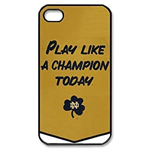 SUUER NCAA Notre Dame Fighting Irish Champions Banner Custom Hard CASE for iPhone 5 5s Durable Case Cover hjbrhga1544