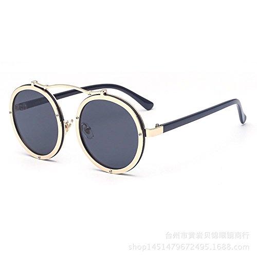 métalliques Lunettes soleil de de confortables 6 Trois Shop pour femmes hommes lunettes et rondes soleil Verres lunettes tTxwXFq