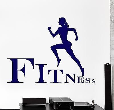 Vinyl Decal Running Sport Jogging Fitness Cool Wall Stickers z3842