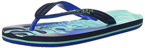 Superdry Faded - Sandalias de dedo Mujer Multicolore (Dark Navy/Strong Blue/Bermuda)