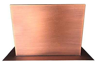 "Sinda Copper Range Hood Extension (Stack/Duct Cover) for 30"" / 36"" / 42"" / 48"" Width Range Hood Wall or Island with Matched Patina and Texture"