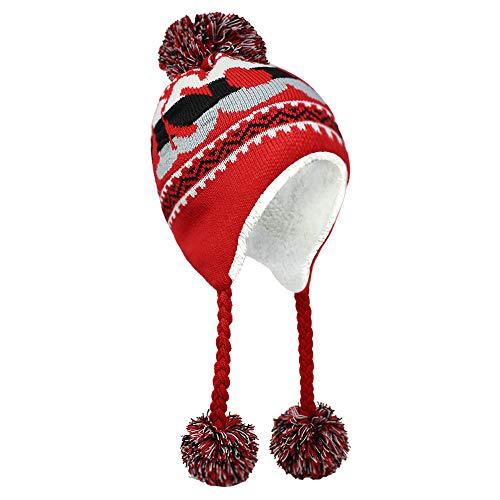 ChoKoLids Football Team City Name Knitted Pom Pom Earflap Winter Hat - 23 Cities (Wisconsin)