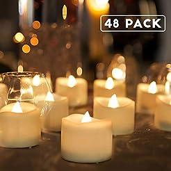 Homemory 48-Pack Battery Tea Lights Bulk...
