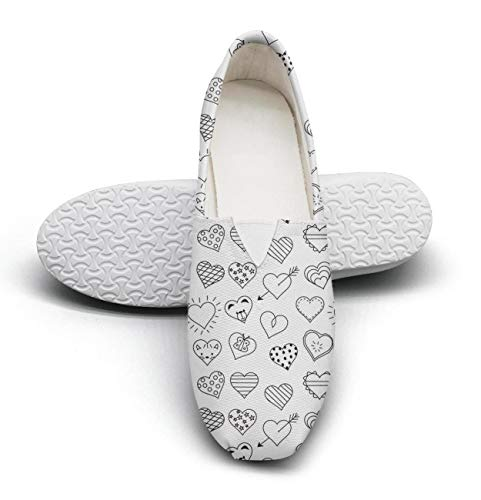 Heart Bear Casual Women's Extra Light Flat Slip on Shoes Ladies Loafer Shoes
