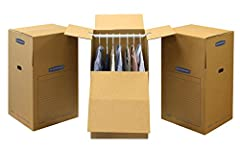 """Wardrobe boxes are designed specifically for moving and storage of hanging items. Each box includes a 24"""" Hanger bar Which can accommodate up to linear feet of closet items. The wardrobe Box closes completely to keep articles clean. Boxes are..."""
