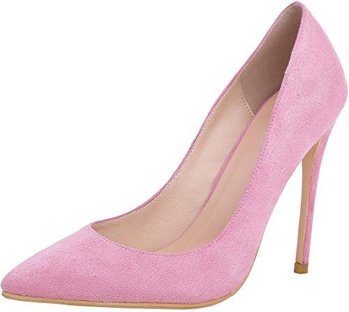 rosa col Donna Calzature Arraysa Su A Tacco Aray Scivolare 12CM Spillo Scarpe tacco camoscio AxqxOzgw