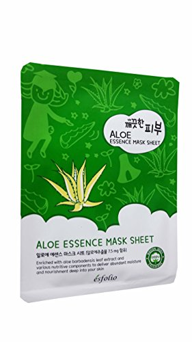 4 Mask Sheets of Esfolio Pure Skin Aloe Essence Mask Sheet. Enriched with aloe barbadensis leaf extract and various nutritive components to deliver abundant moisture and nourishment.(25 ml/ (Deluxe Red Hair Spray)