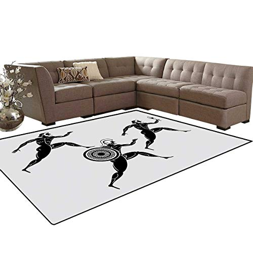 Toga Party Room Home Bedroom Carpet Floor Mat Historical Ancient Spartan Runners Antique Body Heritage Illustration Door Mats Area Rug 6'6