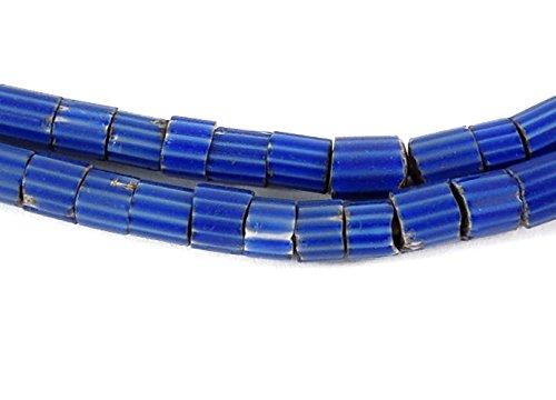 Venetian Trade Beads Blue Chevron Slices Africa 29 -