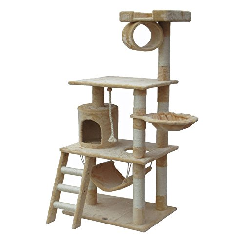Go Pet Club Cat Tree Furniture 62 in. High 41ZfKc8WlBL
