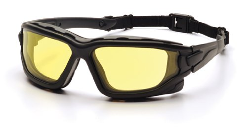 Pyramex I-Force Sporty Dual Pane  Anti-Fog Goggle, Black Frame/Amber Anti-Fog Lens