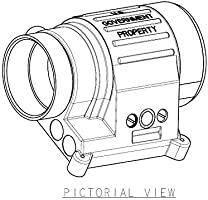 KDSG PVS-14 Night Vision Monocular Upper Battery Housing Assembly PN 277705
