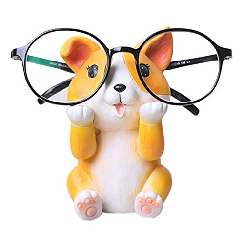 Puppy Dog Glasses Holder Stand Eyeglass Retainers Sunglasses Display Cute Animal Design Gift (Corgi)