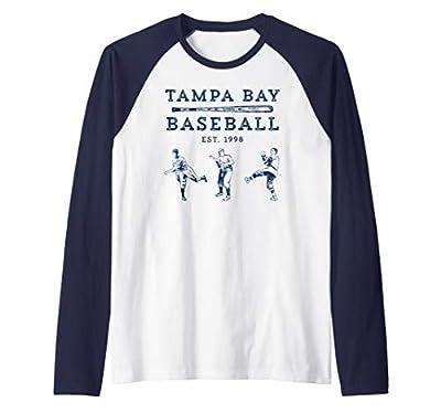 Classic Tampa Bay Baseball Fan Retro Vintage Raglan Baseball Tee