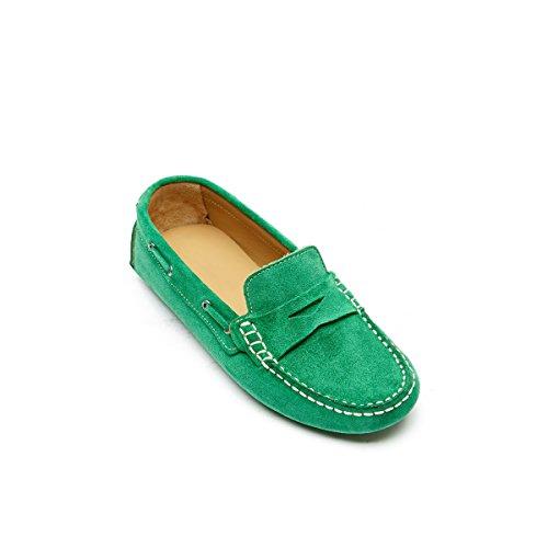 Mocasines de Mujer Piel Verde Daniel Verde Para mocassin Frank qZS4Ewa