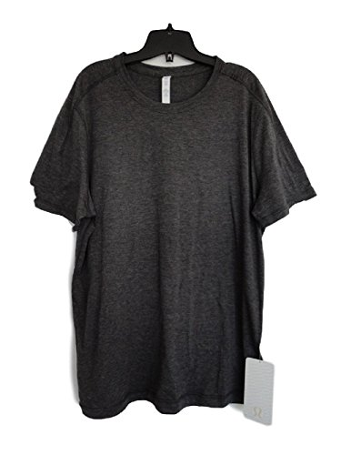 LULULEMON MEN'S CATALYST SHORT SLEEVE SHIRT - HEATHERED BLACK - SIZE S