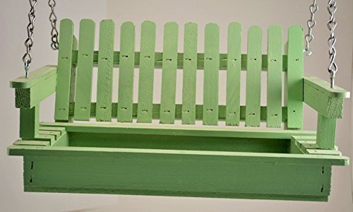 Bird Seed Cottage - Soft Green Porch Swing Bird Feeder - Free US Shipping