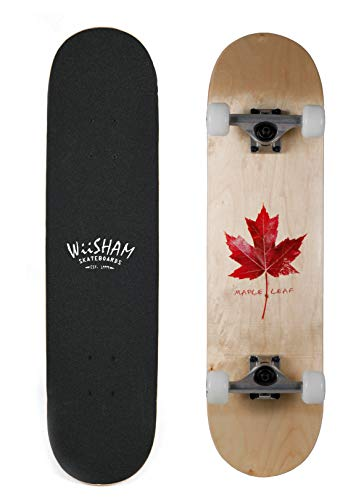 WiiSHAM Skateboards Pro 31 inches Complete Skateboards for Teens, Beginners, Girls,Boys,Kids,Adults (28)