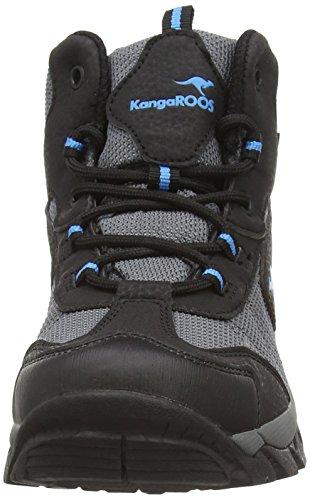 KangaROOS K-Outdoor K 2111 - zapatillas de trekking y senderismo de material sintético Niños^Niñas gris - Grau (dk grey/smaragd 286)
