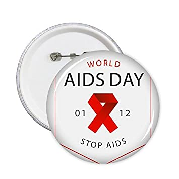 Red Ribbon 1st December World Aids Day Stop Hiv Awareness Solidarity