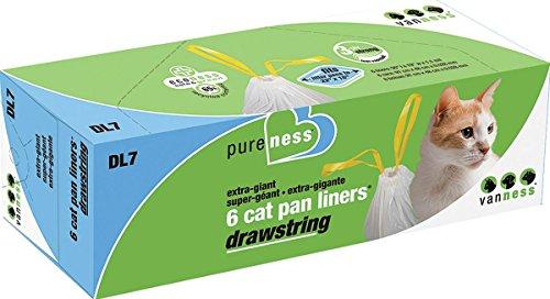 - Van Ness DL7 PureNess Extra Giant Drawstring Cat Pan Liner, 6-Count