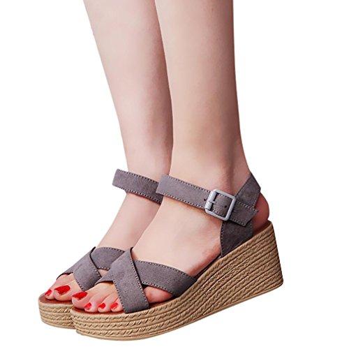 Zapatos grises Culater para mujer 1U3XV8Ij