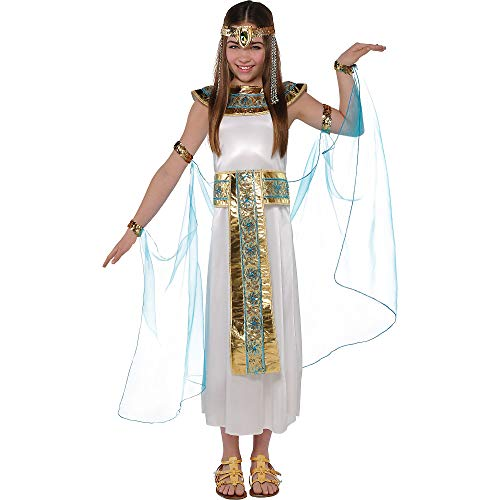 AMSCAN Shimmer Cleopatra Halloween Costume for Girls, Medium, with Included Accessories -