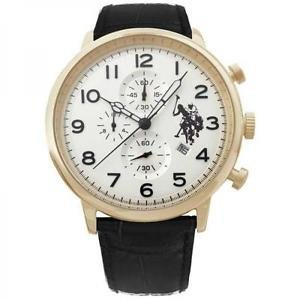 Uhr U.S. Polo Assn. Varenne usp4358yg QX Leder Chronograph