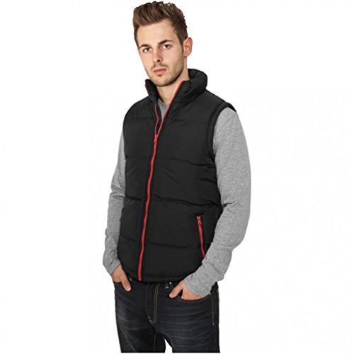 Urban Classics Contrast Bubble Veste Black/Red, Bl