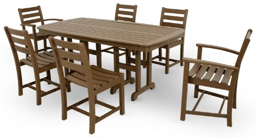 Trex Outdoor Furniture TXS118-1-TH Monterey Bay 7-Piece Dining Set, Tree House (Marine Grade Outdoor Furniture)