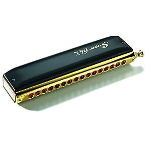 hohner super 64x gold black harmonica musical instruments. Black Bedroom Furniture Sets. Home Design Ideas